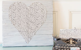 newsprint heart faux pallet art, crafts, how to, repurposing upcycling