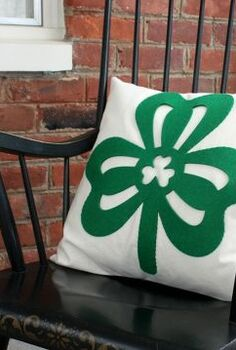 easy st patrick s day pillows, crafts, how to, seasonal holiday decor, reupholster