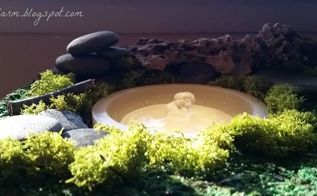 mossy indoor fountain, crafts, living room ideas, ponds water features, woodworking projects