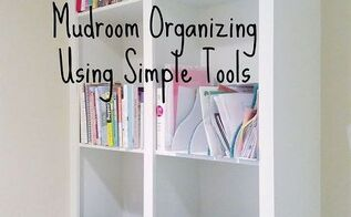 mudroom organizing using simple tools, foyer, how to, organizing