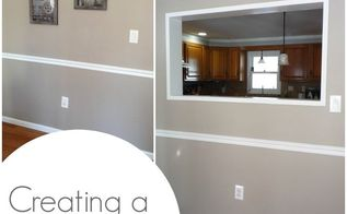 creating a pass through in our wall, kitchen design, living room ideas, painting, wall decor