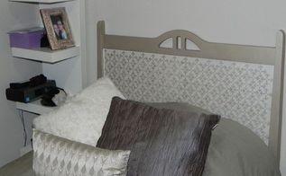 modern masters matte metallic paint on a headboard, bedroom ideas, painted furniture