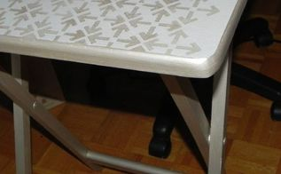 modern masters matte metallic paints on a small table, painted furniture