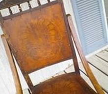 q how do i clean this beautiful old rocker, cleaning tips, how to, painted furniture, repurposing upcycling, wood backing