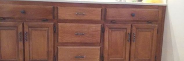 q help with bathroom cabinet color, bathroom ideas, home improvement, painted furniture, painting, Current cabinet finish outdated