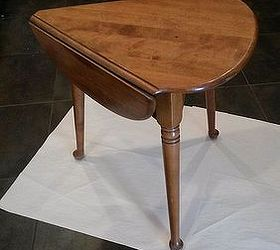 Exceptional Small Drop Leaf Table Part - 4: Small Drop Leaf Table Homemade Chalk Paint With Art Added, Chalk Paint,  Painted Furniture