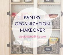 pantry organization with baskets and ball mason jars, closet, mason jars, organizing, repurposing upcycling