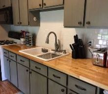 kitchen update for 500, countertops, home improvement, kitchen cabinets, kitchen design, painting