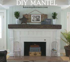 Fireplace Facelift Beautiful Mantel Built With Scraps | Hometalk