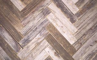 reclaimed wood herringbone backsplash for bathroom vanity, bathroom ideas, wall decor, Mixed tone up cycled wooden backsplash