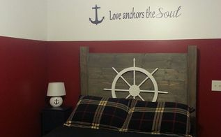 nautical guest room makeover, bedroom ideas, repurposing upcycling, wall decor