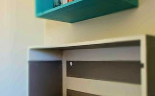reuse crates drawers, bathroom ideas, chalkboard paint, organizing, painting, repurposing upcycling, storage ideas