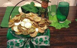 luck o the irish pots of gols, crafts, seasonal holiday decor