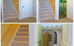 empty closet transformed into magical playroom hideaway, bedroom ideas, closet, entertainment rec rooms, stairs