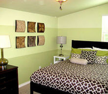 paint chip inspired walls, bedroom ideas, paint colors, painting