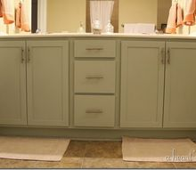 quick bath refresher with painted cabinets, bathroom ideas, chalk paint, painting