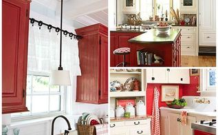 red looks we love, home decor, paint colors, painted furniture, painting, Farmhouse Reds