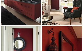 red looks we love, home decor, paint colors, painted furniture, painting, Marsala