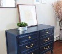 royal blue gold dresser, painted furniture
