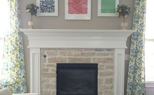 easy scrap fabric statement art, crafts, fireplaces mantels, repurposing upcycling, wall decor