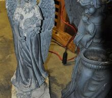 q how do you locate materials to repaint faded resin blue green statues, crafts, painted furniture