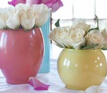diy painted glass vases, crafts