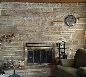 Updating a stone fireplace wall Hometalk