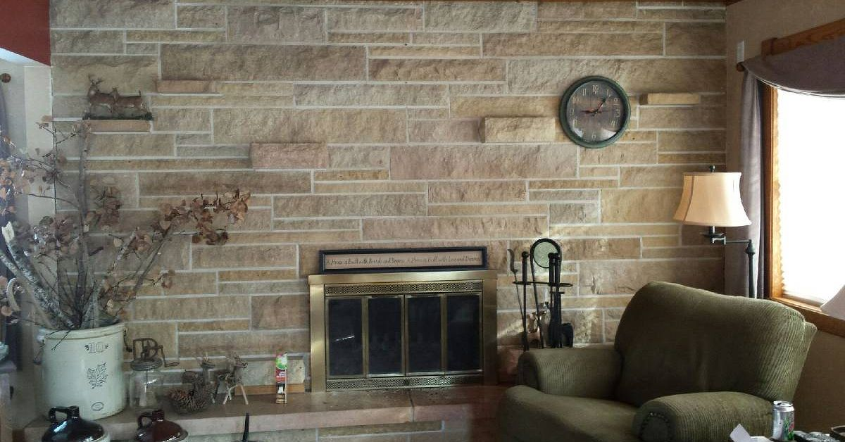 Stone Fireplace Walls updating a stone fireplace wall | hometalk