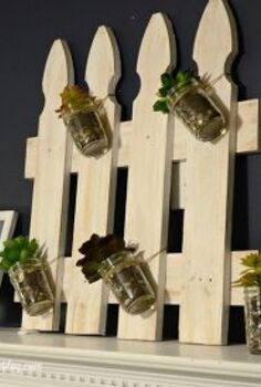 white picket fence succulent garden, crafts, fences, gardening, home decor, how to, repurposing upcycling, succulents