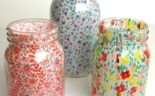 mason jar vases, crafts, decoupage, how to, mason jars, repurposing upcycling
