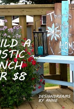 build a rustic bench for 8, diy, how to, outdoor furniture, painted furniture, woodworking projects