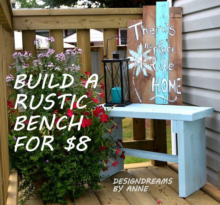 DIYBuild A Rustic Bench For 8  Hometalk