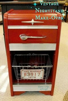 vintage car inspired night stand, bedroom ideas, painted furniture