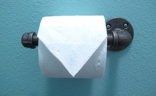 easy industrial toilet paper dispenser, bathroom ideas, how to, plumbing, repurposing upcycling