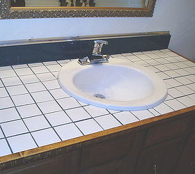 How To Turn Your Tile Counter Top In To Faux Sandstone Without Removal,  Bathroom Ideas