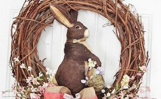 easter wreath, crafts, easter decorations, seasonal holiday decor, wreaths