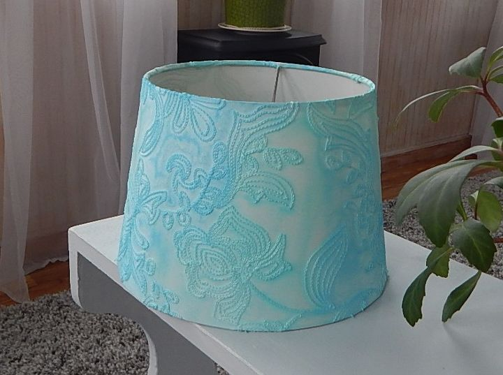 Colored Lamp Shades water color lamp shade redo | hometalk