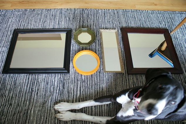 Adding light with a mirror gallery hometalk - Add spark wall art picture lights ...