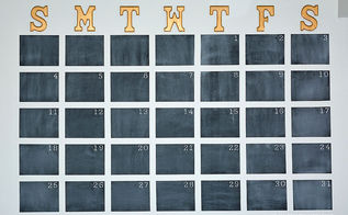 chalkboard paint oversized wall calendar, chalkboard paint, crafts, how to, wall decor
