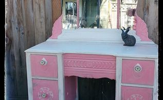 sk s vain pink lady, chalk paint, decoupage, painted furniture