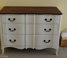 guest room dresser makeover, chalk paint, how to, painted furniture