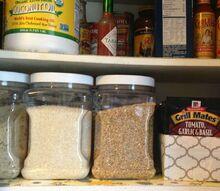 pantry organizer from a ziplock box, closet, organizing, repurposing upcycling, storage ideas