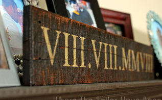 roman numeral anniversary sign from pallet wood, crafts, how to, pallet, repurposing upcycling, woodworking projects