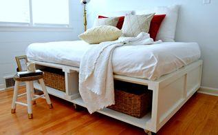 diy platform bed with storage, bedroom ideas, diy, how to, painted furniture, storage ideas
