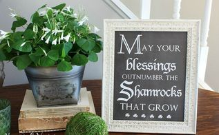 st patrick s day vignette and chalkboard printable, crafts, flowers, gardening, home decor, seasonal holiday decor