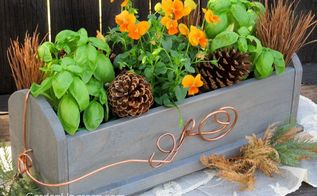 give thanks centerpiece box diy, crafts, dining room ideas, flowers, home decor, how to, woodworking projects