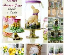 easter mason jars for gifts treats or decor, easter decorations, home decor, mason jars