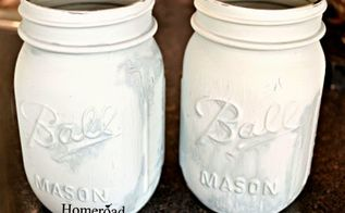 blue speckled egg mason jars, chalk paint, crafts, how to, mason jars, repurposing upcycling