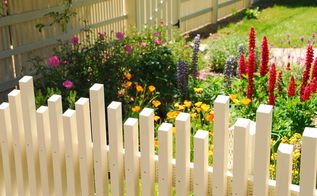 fence with dancing pickets, diy, fences, home improvement, how to