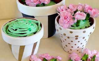 diy spring terra cotta pots, crafts, seasonal holiday decor